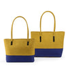 Darling's Two-Toned Shoulder Tote Dual Bags Set Yellow & Blue