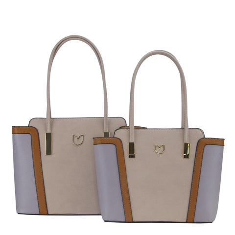 GS-140 - Two Tone Bowknot 2 Bags Set - 4 Colors