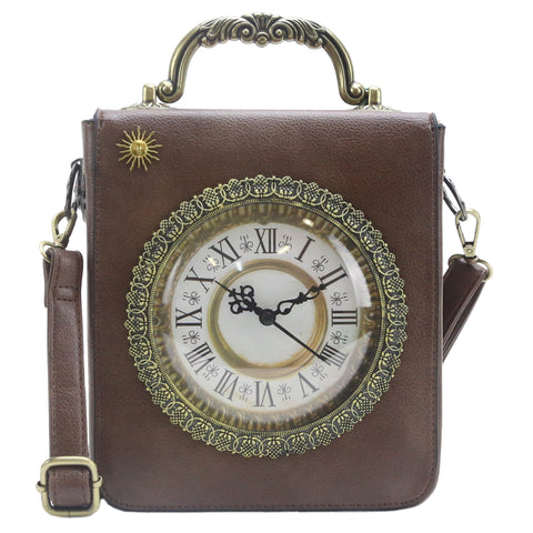 HAM-9501 - Clock Design Handbag - 4 Colors