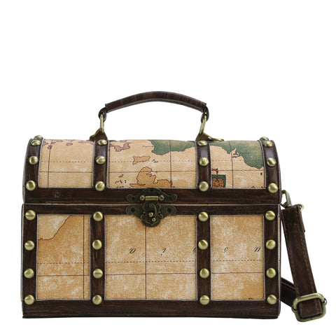 HAM-9709 - Treasure Chest Shoulder Bag - 2 Colors