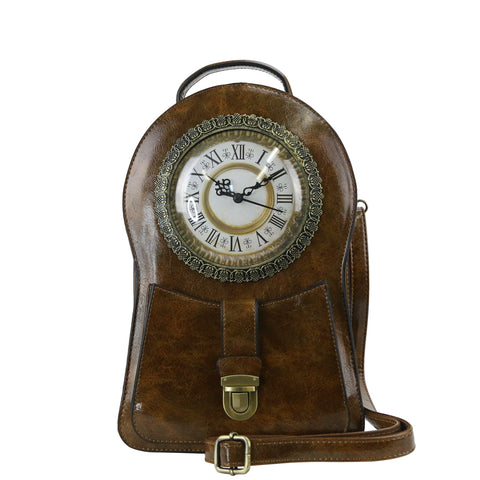 HAM-005 - Clock Design Backpack / Shoulder Bag - 3 Colors