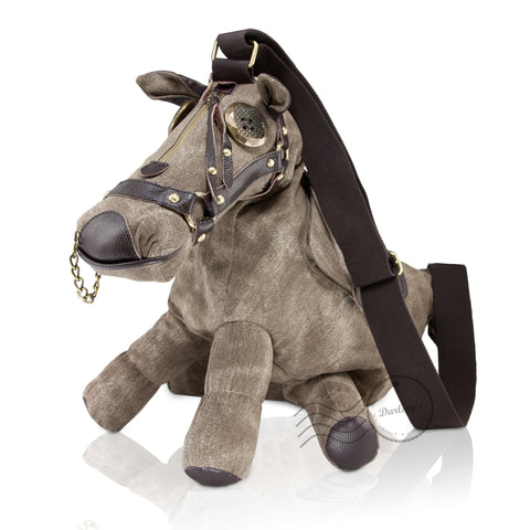 HAM-9224 - Donkey/Horse Design Shoulder Bag - Beige