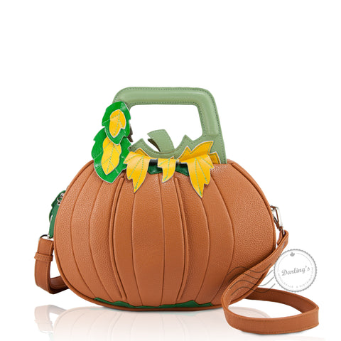HAM-9260 - Pumpkin Design Shoulder Bag - Orange