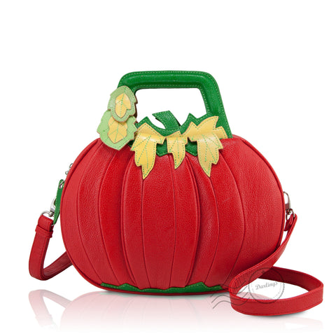 HAM-9260 - Tomato/Pumpkin Design Handbag - Red