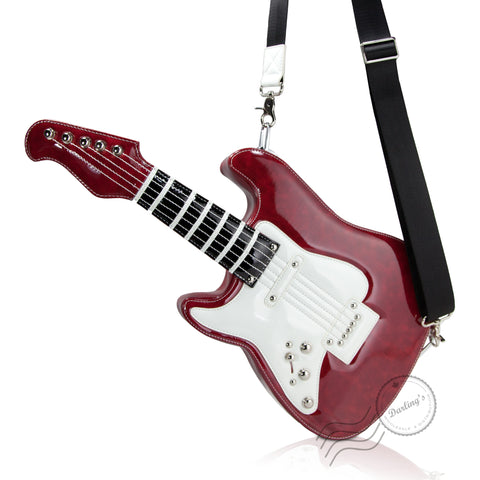 HAM9275 - Electronic Guitar CrossBody Bag - Burgundy