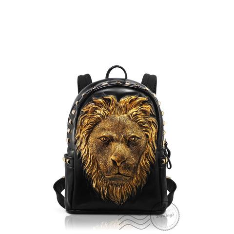 HAM9727S - 3D Lion Backpack - Small - Gold