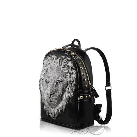 HAM9727S - 3D Lion Backpack - Small - Silver