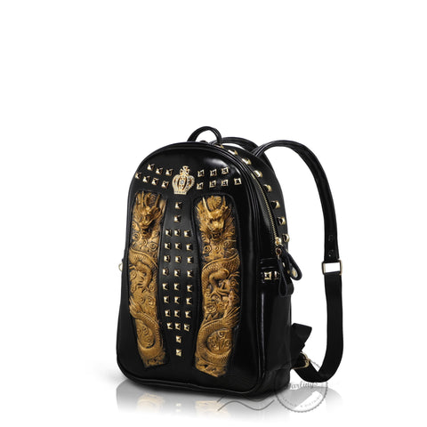 HAM9731S - 3D Dragon Totem Backpack - Small - Gold