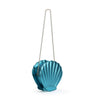 HAM-9867 - Shell Clutch Purse - Blue
