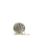 HAM-9867 - Shell Clutch Purse - Gold