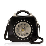 HAM-9136 - Telephone Design Handbag - Black