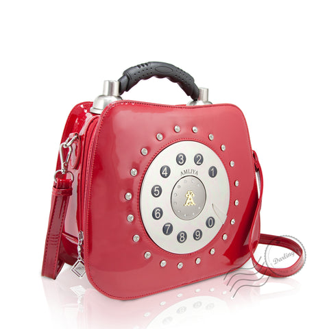 HAM-9136 - Telephone Handbag - Red *OUT STOCK