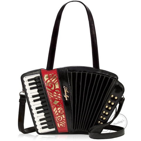 HAM-9720 - Accordion Handbag - Black