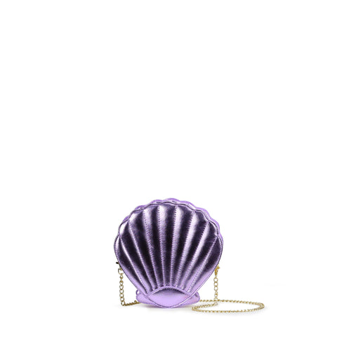 HAM-9867 - Shell Clutch Purse - Purple
