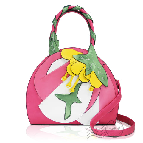 HDA6251 - Flower Handbag - Red