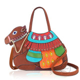 HDA6268 - Camel Handbag - Brown