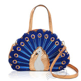 HDA6287 - Peacock Handbag - Gold *Out of Stock