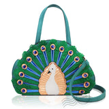 HD-A6287 - Peacock Handbag - Green *Out of Stock