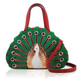 HDA6287 - Peacock Handbag - Red *Out of Stock