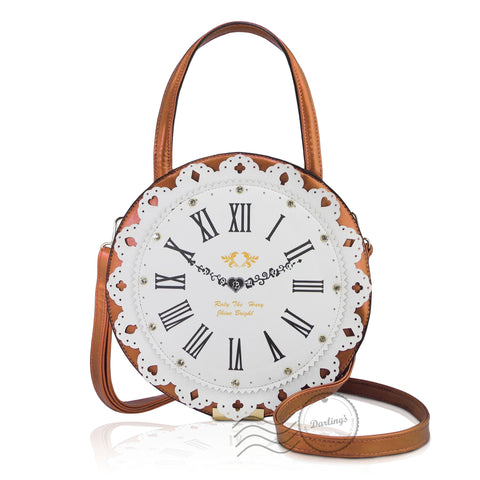 HDA6288 - Clock Shoulder bag - Champagne