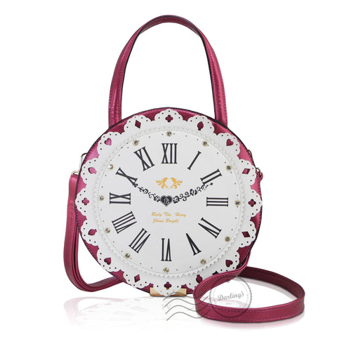 HDA6288 - Clock Shoulder bag - Red