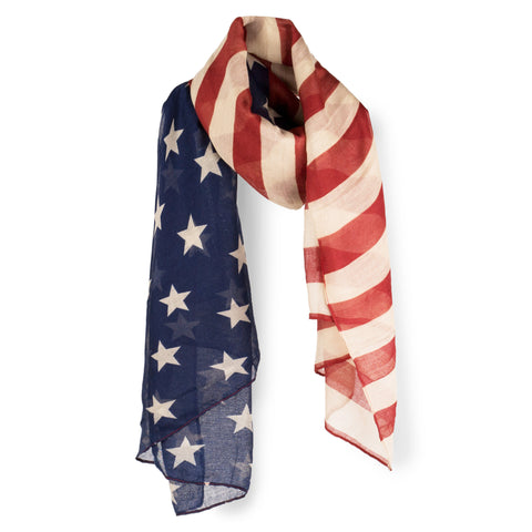 SAB01 - Stars & Stripes Pattern Oblong Scarf