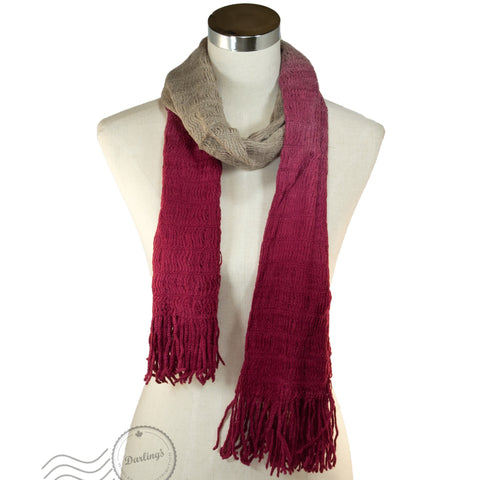 SSY301-02 Scarf Gradient Red