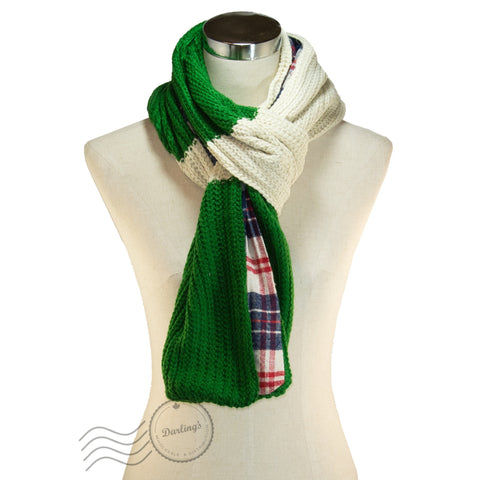 SSY307-03 Plaid Pattern Scarf Red