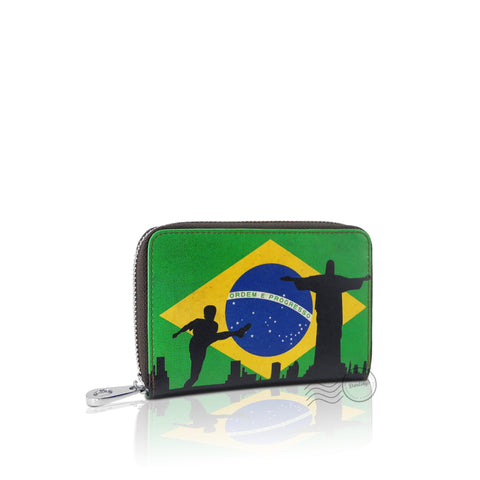 WTT902 - Leather Wallet - Medium - Brazil Flag