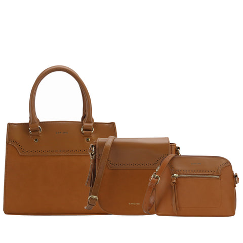 YD-6059 - Your Darling Convertible Handbag - 3 Bag Set 4 Colors