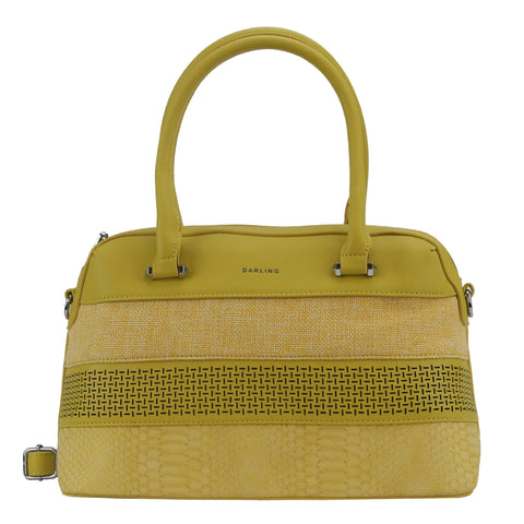 YD-6185 - Darling Multi Fabric Handbag