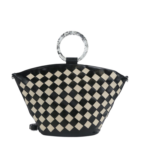 YD-7376 - Darling Elegant Weave Handbag - 7 Colors