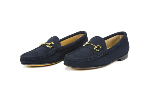 Navy Blue Suede