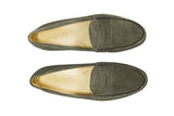 Olive Green Suede Cromwell Penny Loafer