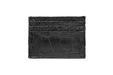 Alligator Leather Card Wallet