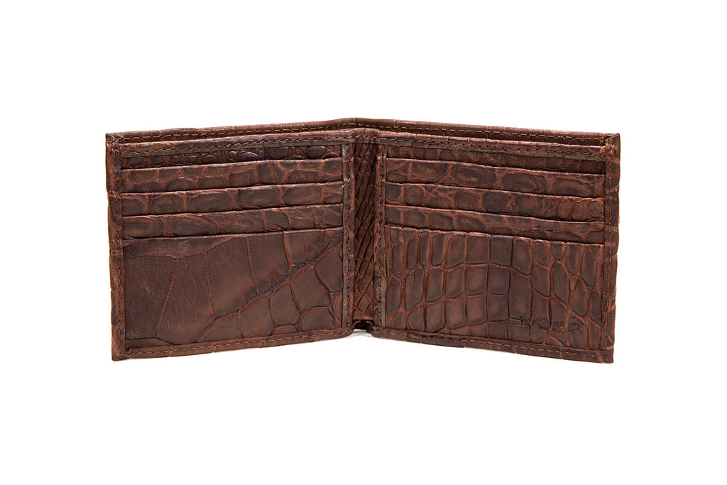 Alligator Leather Bifold Wallet