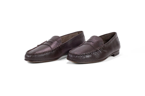 Perforated Dark Brown Full Grain
