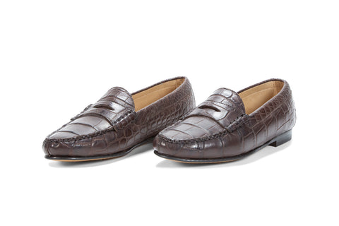 Alligator Leather Cromwell Penny Loafer
