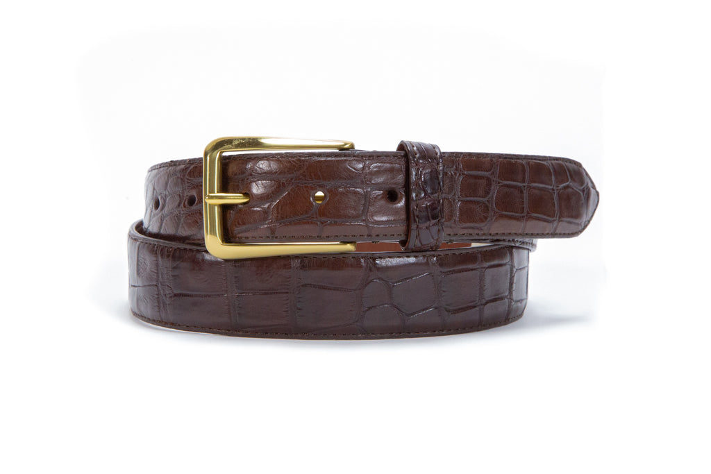 Men's Alligator Leather Belt
