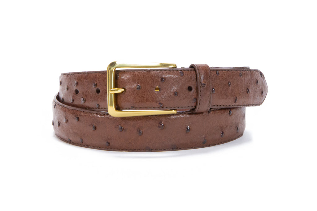 Men's Ostrich Leather Belt