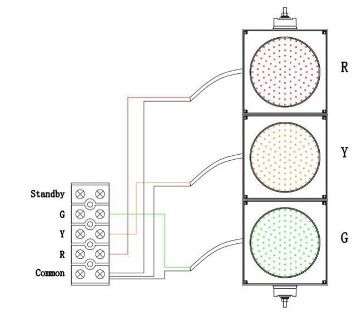 Wondrous Bnr 3 Aspect 300Mm Led Traffic Lights 12 24Vdc Arrows And Colours Wiring Database Wedabyuccorg