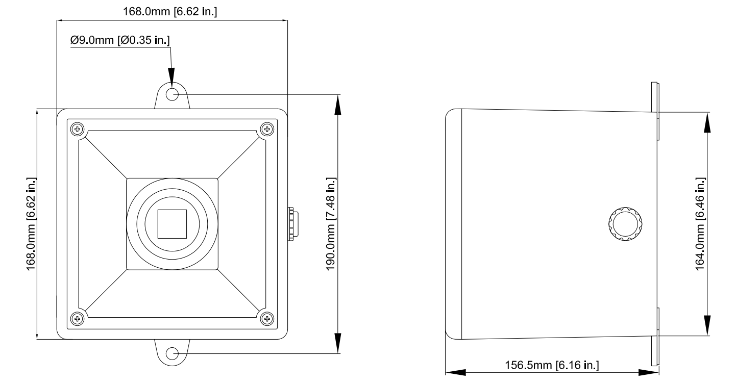 E2S A112N Sounder Dimensions