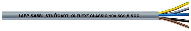 LAPP KABEL ÖLFLEX® CLASSIC 100 300/500V Colour-Coded Oil Resistant PVC Control Cable - BNR Industrial