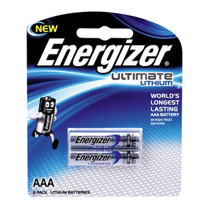 Energizer Ultimate Lithium AAA - 2 Pack - BNR Industrial