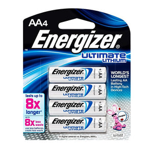 Energizer Ultimate Lithium AA - 4 Pack - BNR Industrial