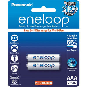 PANASONIC Eneloop 2-Pack AAA Rechargeable Batteries - BNR Industrial