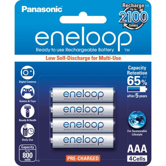 Panasonic PANASONIC Eneloop 4-Pack AAA Rechargeable Batteries - BNR Industrial