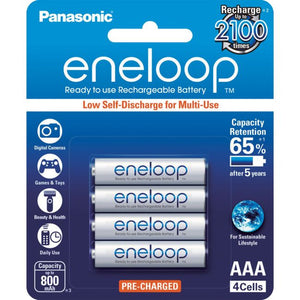 PANASONIC Eneloop 4-Pack AAA Rechargeable Batteries - BNR Industrial