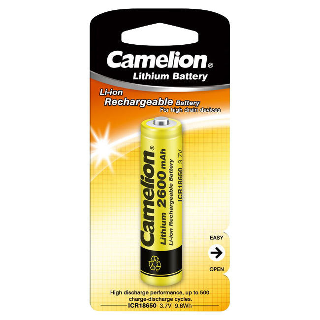 Camelion Camelion 18650 3.7V 2600mAh Lithium Rechargeable Battery - BNR Industrial