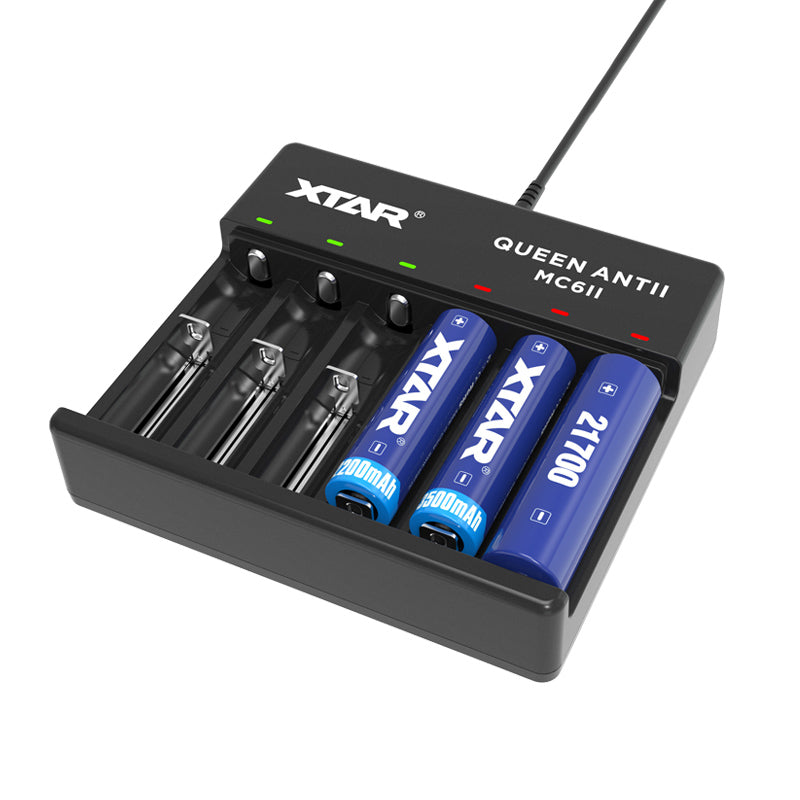 XTAR XTAR MC6II Plus Master Smart Battery Charger - BNR Industrial